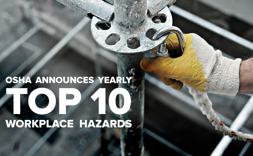 Top 10 Workplace Hazards 2016 | U.S. Standard Products
